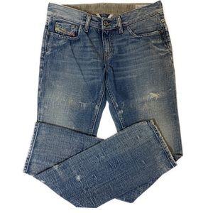 Diesel Louvley Acid Wash Distressed Jeans